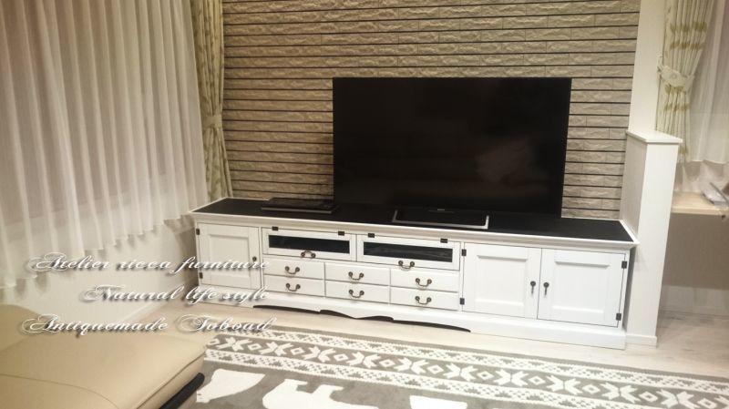 画像2: Kさまオーダー*アンティーク調TVボード